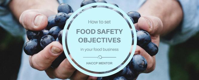 Set food safety objectives