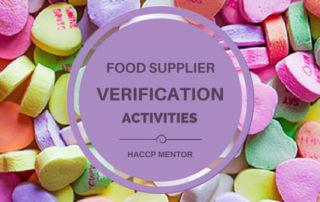 Food Supplier Verification Activities